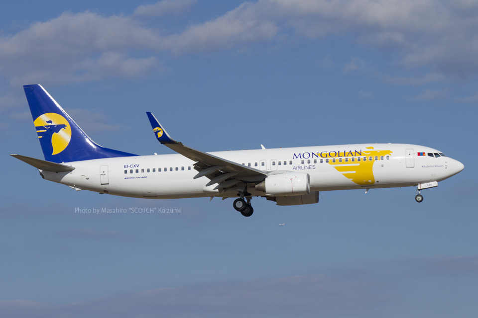 ScotchさんのMIATモンゴル航空 Boeing 737-800 (EI-CXV) 航空フォト
