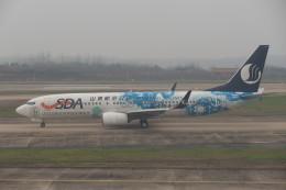 KKiSMさんが、武漢天河国際空港で撮影した山東航空 737-85Nの航空フォト(飛行機 写真・画像)