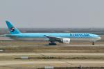 delawakaさんが、上海浦東国際空港で撮影した大韓航空 777-3B5/ERの航空フォト(飛行機 写真・画像)