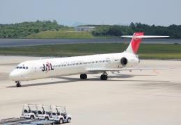 航空フォト:JA002D 日本航空 MD-90
