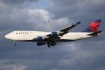 tyusonさんが、成田国際空港で撮影したデルタ航空 747-451の航空フォト(飛行機 写真・画像)