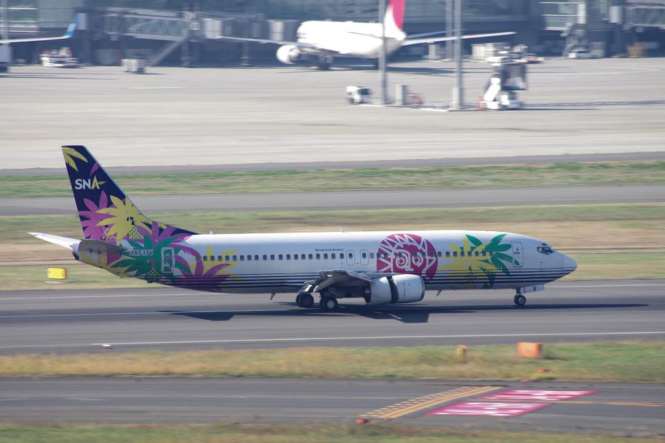 yabyanさんのスカイネットアジア航空 Boeing 737-400 (JA737V) 航空フォト