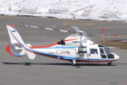 へりさんが、札幌飛行場で撮影した北海道航空 AS365N2 Dauphin 2の航空フォト(写真)