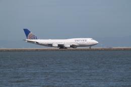 職業旅人さんが、サンフランシスコ国際空港で撮影したユナイテッド航空 747-422の航空フォト(飛行機 写真・画像)