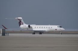 yabyanさんが、中部国際空港で撮影したカタール・エグゼクティブ G650ER (G-VI)の航空フォト(飛行機 写真・画像)