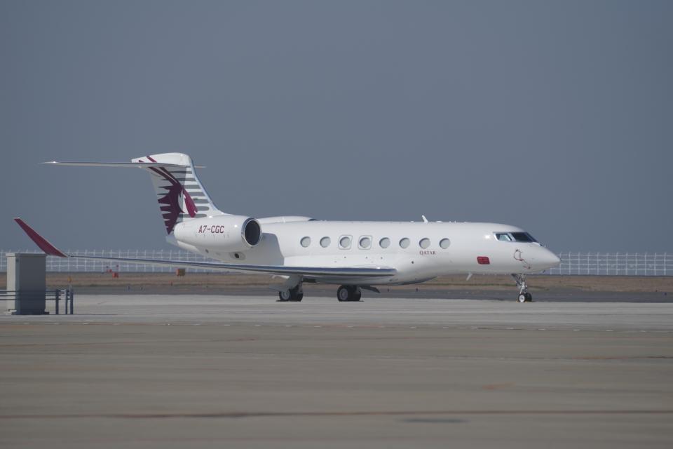 yabyanさんのカタール・エグゼクティブ Gulfstream G650 (G-VI) (A7-CGC) 航空フォト