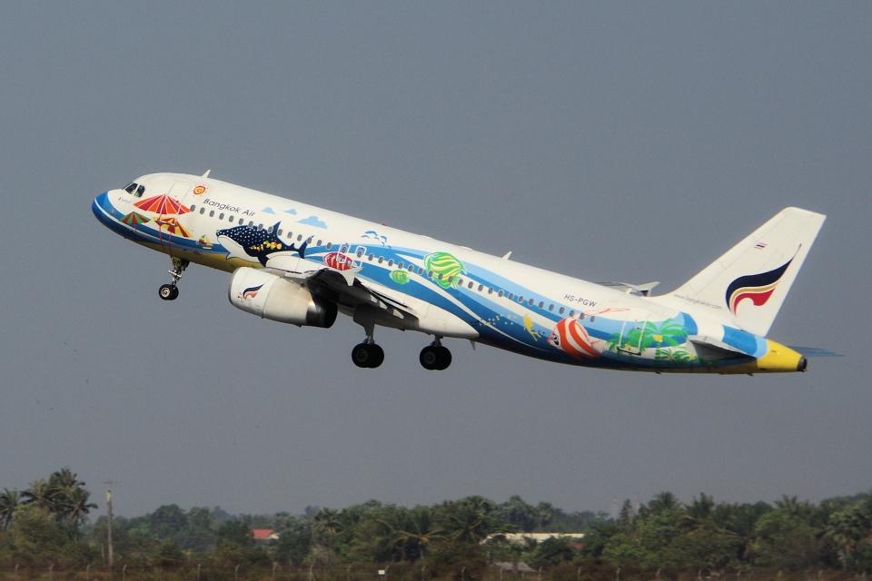 yabyanさんのバンコクエアウェイズ Airbus A320 (HS-PGW) 航空フォト