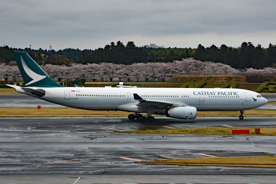 tsubasa0624さんのキャセイパシフィック航空 Airbus A330-300 (B-LAK) 航空フォト
