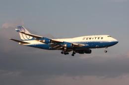 元青森人さんが、成田国際空港で撮影したユナイテッド航空 747-422の航空フォト(飛行機 写真・画像)
