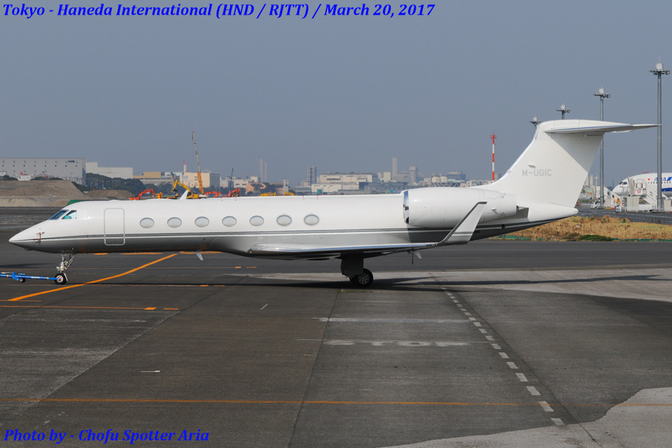Chofu Spotter Ariaさんのアメリカ企業所有 Gulfstream G500/G550 (G-V) (M-UGIC) 航空フォト