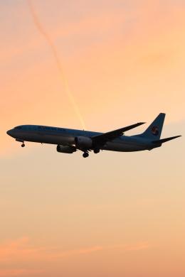多楽さんが、成田国際空港で撮影した大韓航空 737-9B5の航空フォト(写真)