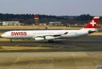 あしゅーさんが、成田国際空港で撮影したスイスインターナショナルエアラインズ A340-313Xの航空フォト(飛行機 写真・画像)