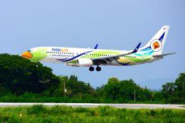 まいけるさんが、ピッサヌローク空港で撮影したノックエア 737-88Lの航空フォト(飛行機 写真・画像)