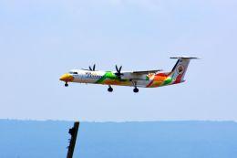 まいけるさんが、ピッサヌローク空港で撮影したノックエア DHC-8-402Q Dash 8の航空フォト(飛行機 写真・画像)