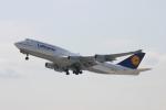 uhfxさんが、関西国際空港で撮影したルフトハンザドイツ航空 747-430の航空フォト(飛行機 写真・画像)