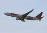uhfxさんが、関西国際空港で撮影したティーウェイ航空 737-8HXの航空フォト(飛行機 写真・画像)