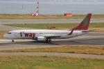 uhfxさんが、関西国際空港で撮影したティーウェイ航空 737-8K5の航空フォト(飛行機 写真・画像)