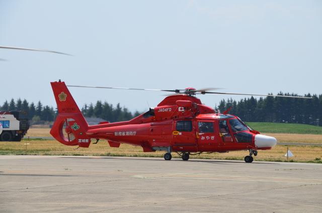 宮城県防災航空隊 Eurocopter AS365/565 Dauphin 2/Panther JA04FD 霞目駐屯地  航空フォト   by ヘリオスさん