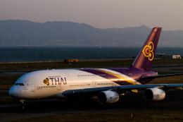岡崎美合さんが、関西国際空港で撮影したタイ国際航空 A380-841の航空フォト(写真)