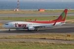 uhfxさんが、関西国際空港で撮影したティーウェイ航空 737-8BKの航空フォト(飛行機 写真・画像)
