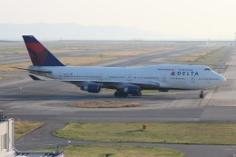 uhfxさんが、関西国際空港で撮影したデルタ航空 747-451の航空フォト(飛行機 写真・画像)