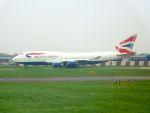 まいけるさんが、ロンドン・ヒースロー空港で撮影したブリティッシュ・エアウェイズ 747-436の航空フォト(写真)