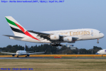 Chofu Spotter Ariaさんが、成田国際空港で撮影したエミレーツ航空 A380-861の航空フォト(飛行機 写真・画像)