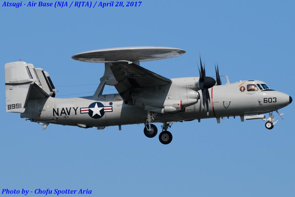 Chofu Spotter Ariaさんのアメリカ海軍 Northrop Grumman E-2 Hawkeye (168991) 航空フォト