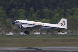 宮崎 育男さんが、熊本空港で撮影したスーパーコンステレーション飛行協会 DC-3Aの航空フォト(飛行機 写真・画像)