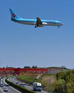 パンダさんが、成田国際空港で撮影した大韓航空 737-9B5の航空フォト(写真)