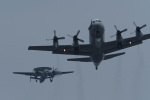 ほーねっともきさんが、厚木飛行場で撮影した海上自衛隊 UP-3Cの航空フォト(写真)