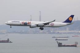 ぽんさんが、香港国際空港で撮影したルフトハンザドイツ航空 A340-642の航空フォト(飛行機 写真・画像)