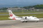 トラフィックナビゲーター・ヨッシーさんが、鹿児島空港で撮影した日本エアコミューター ATR-42-600の航空フォト(写真)