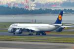 485k60さんが、羽田空港で撮影したルフトハンザドイツ航空 A340-642Xの航空フォト(写真)