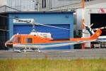 485k60さんが、東京ヘリポートで撮影した新日本ヘリコプター 204B-2(FujiBell)の航空フォト(飛行機 写真・画像)
