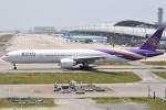 JAA DC-8さんが、関西国際空港で撮影したタイ国際航空 777-3AL/ERの航空フォト(飛行機 写真・画像)