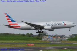 Chofu Spotter Ariaさんが、成田国際空港で撮影したアメリカン航空 777-223/ERの航空フォト(写真)