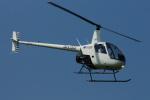 485k60さんが、東京ヘリポートで撮影した日本フライトセーフティ R22 Beta IIの航空フォト(写真)