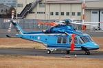 へりさんが、東京ヘリポートで撮影した警視庁 AB139の航空フォト(写真)