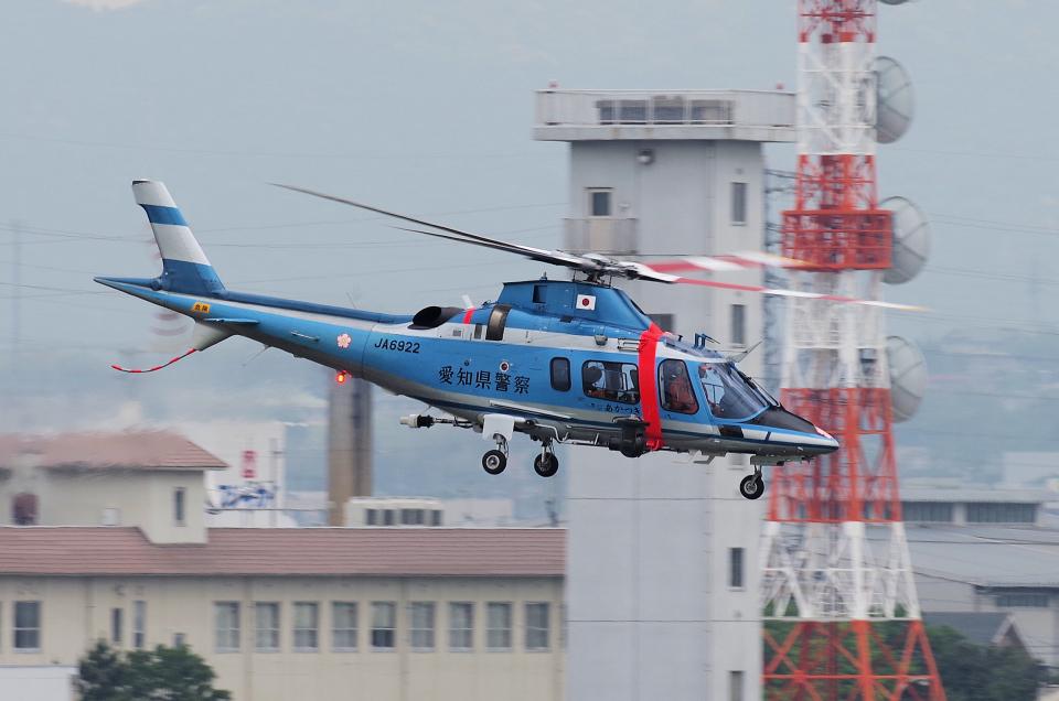 yabyanさんの愛知県警察 Agusta A109 (JA6922) 航空フォト