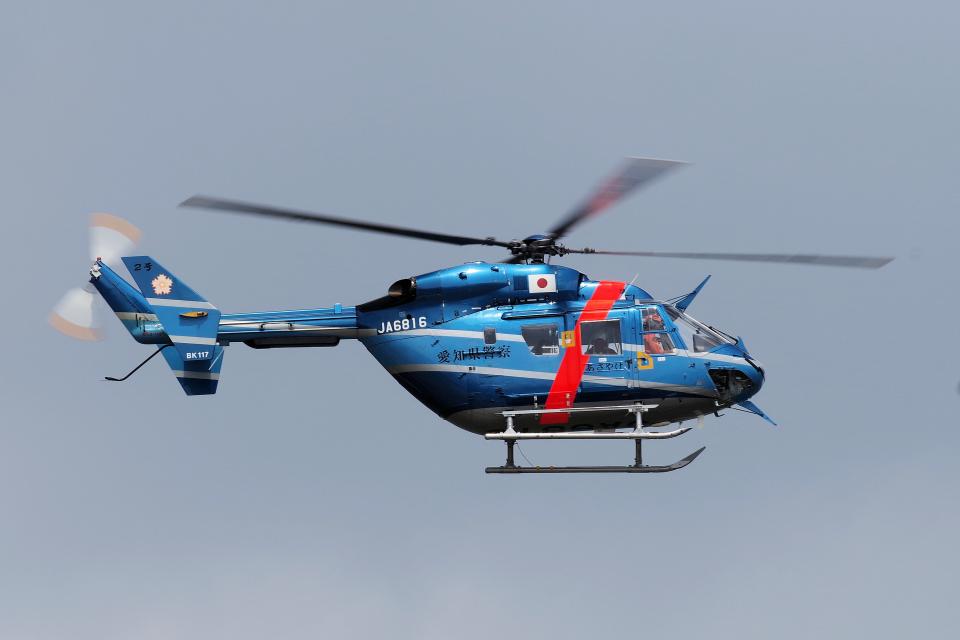 yabyanさんの愛知県警察 Kawasaki BK117 (JA6816) 航空フォト