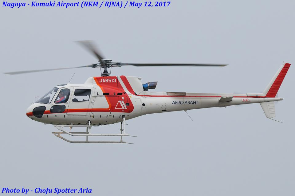 Chofu Spotter Ariaさんの朝日航洋 Eurocopter AS350 Ecureuil/AStar (JA6513) 航空フォト