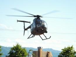 倉島さんが、新発田駐屯地で撮影した陸上自衛隊 OH-6Dの航空フォト(飛行機 写真・画像)