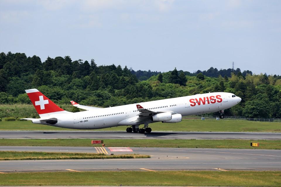 T.Sazenさんのスイスインターナショナルエアラインズ Airbus A340-300 (HB-JMD) 航空フォト