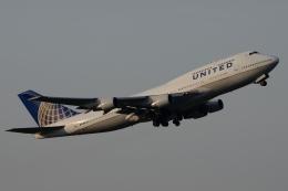 木人さんが、成田国際空港で撮影したユナイテッド航空 747-422の航空フォト(飛行機 写真・画像)