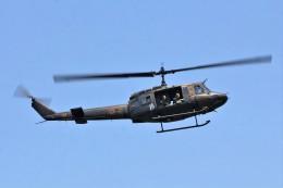 YASKYさんが、埼玉県加須市 利根川河川敷で撮影した陸上自衛隊 UH-1Jの航空フォト(飛行機 写真・画像)