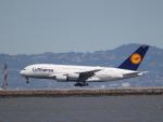 職業旅人さんが、サンフランシスコ国際空港で撮影したルフトハンザドイツ航空 A380-841の航空フォト(飛行機 写真・画像)