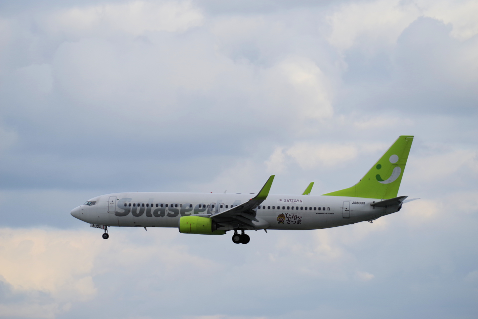 yabyanさんのソラシド エア Boeing 737-800 (JA803X) 航空フォト