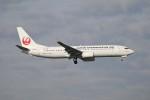 北の熊さんが、新千歳空港で撮影した日本トランスオーシャン航空 737-8Q3の航空フォト(写真)