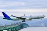 junjunskywalkerさんが、関西国際空港で撮影したガルーダ・インドネシア航空 A330-343Xの航空フォト(写真)
